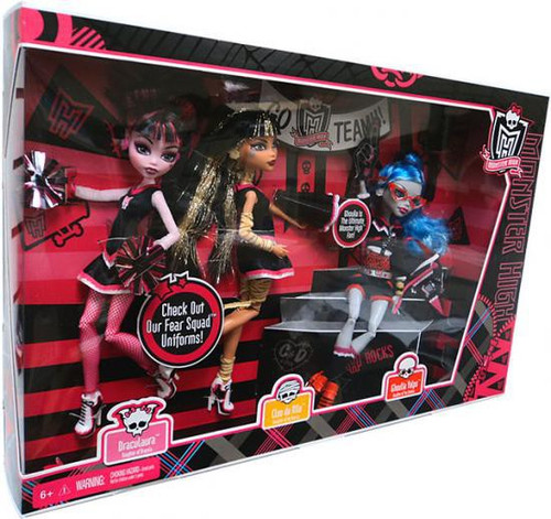 Monster High Ghoul Spirit Draculaura, Cleo de Nile & Ghoulia Yelps Exclusive 10.5-Inch Doll 3-Pack