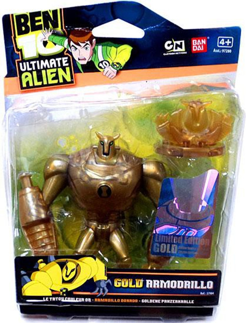 Ben 10 Ultimate Alien Limited Edition Gold Armodrillo Action Figure [Gold]