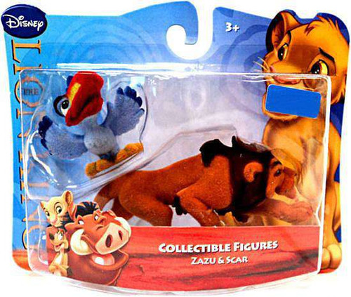 Disney The Lion King Flocked Mini Figures Zazu & Scar Exclusive Figure 2-Pack