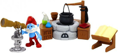The Smurfs Movie Movie Moments Papa Smurf's Lab Figure Playset