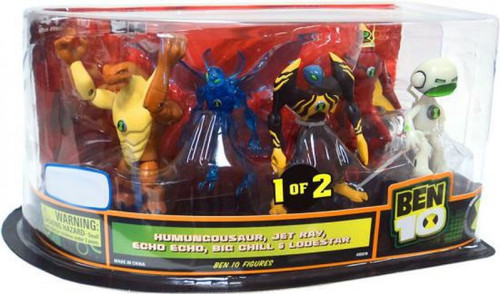 Ben 10 Humungousaur, Jet Ray, Echo Echo, Big Chill & Lodestar Exclusive Action Figure 5-Pack #1