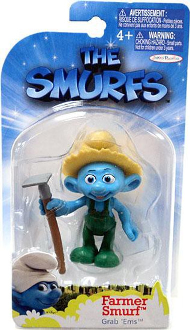 The Smurfs Movie Grab 'Ems Farmer Smurf Mini Figure