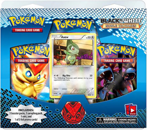Pokemon Trading Card Game Black & White Noble Victories Axew Special Edition [3 Booster Packs, Promo Card & Coin!]
