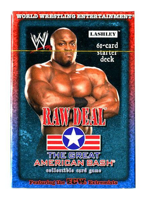 WWE Wrestling Raw Deal Trading Card Game The Great American Bash Lashley Starter Deck