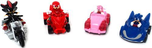 Sonic The Hedgehog Gacha Set of 4 Pullback Racers Mini FIgures