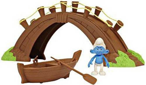The Smurfs Movie Movie Moments Smurf Village Bridge and Boat Figure Playset