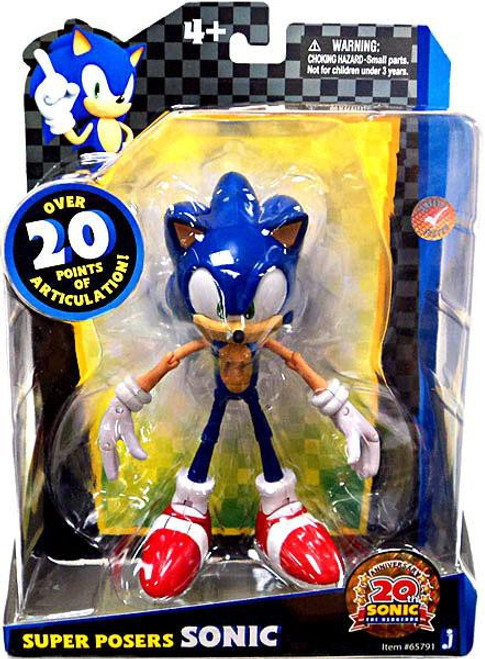 Sonic The Hedgehog 20th Anniversary Super Posers Sonic Action Figure