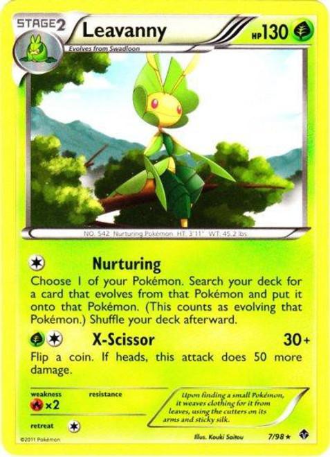 Pokemon Black & White Emerging Powers Rare Leavanny #7