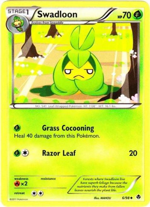 Pokemon Black & White Emerging Powers Uncommon Swadloon #6