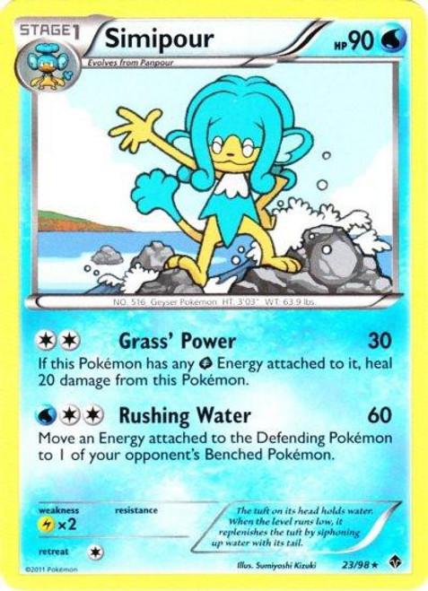 Pokemon Black & White Emerging Powers Rare Simipour #23