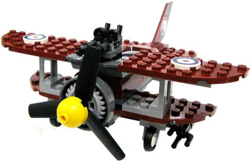 "LEGO Pharaoh's Quest Dark Red Biplane ""Spirit of Luis"" Vehicle [Loose]"