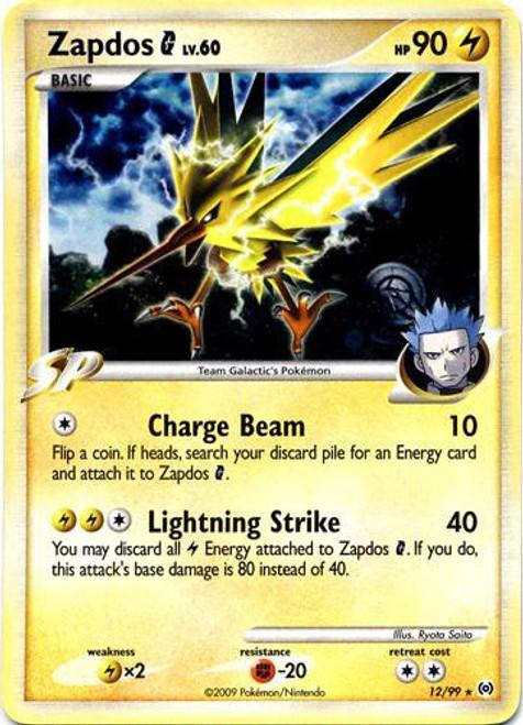 Pokemon Trading Card Game Platinum Arceus Rare Holo Zapdos G #12
