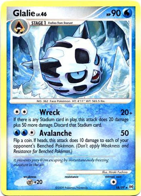 Pokemon Trading Card Game Platinum Arceus Rare Glalie #18