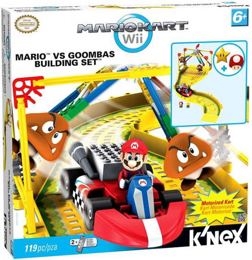 K'NEX Super Mario Mario Kart Wii Mario vs Goombas Set #38467