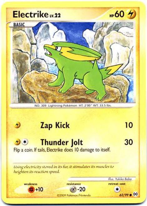 Pokemon Trading Card Game Platinum Arceus Common Electrike #62