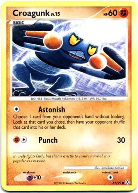 Pokemon Trading Card Game Platinum Arceus Common Croagunk #61