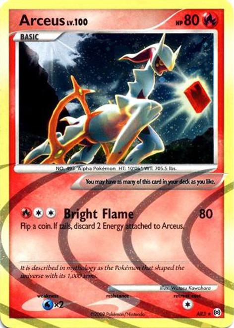 Pokemon Trading Card Game Platinum Arceus Rare Holo Arceus [Fire] AR3