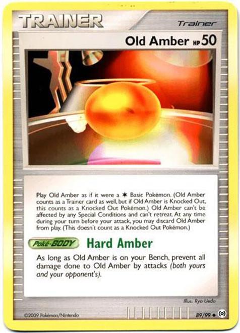 Pokemon Trading Card Game Platinum Arceus Uncommon Old Amber #89