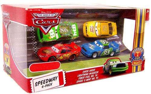 Disney / Pixar Cars The World of Cars Multi-Packs Speedway 4-Pack Exclusive Diecast Car Set [Set #2]
