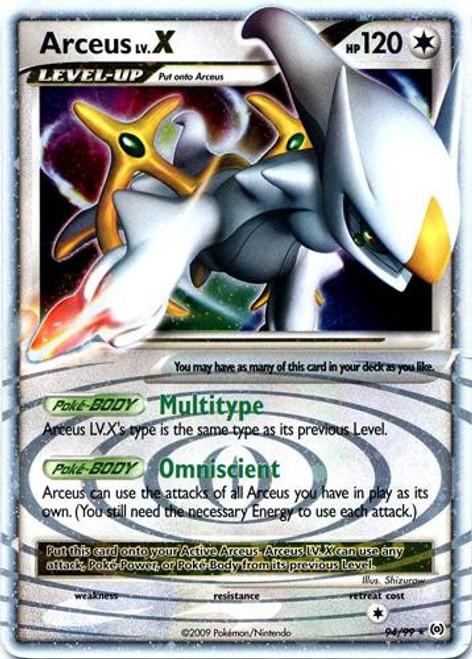 Pokemon Trading Card Game Platinum Arceus Ultra Rare Arceus LV.X #94