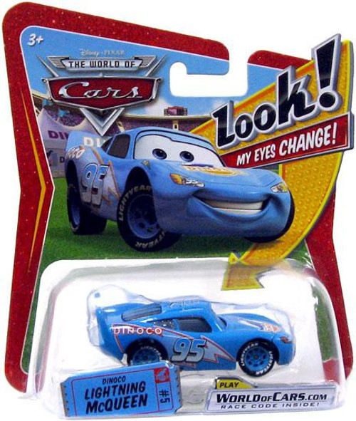 Disney / Pixar Cars The World of Cars Lenticular Eyes Series 1 Dinoco Lightning McQueen Diecast Car