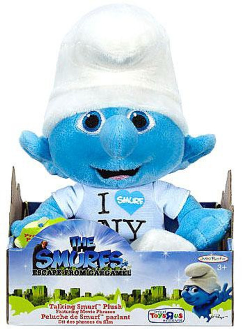 The Smurfs Movie Talking Clumsy Exclusive Plush Figure [I Love NY]