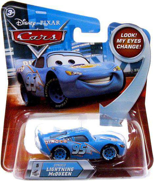 Disney / Pixar Cars Lenticular Eyes Series 2 Dinoco Lightning McQueen Diecast Car