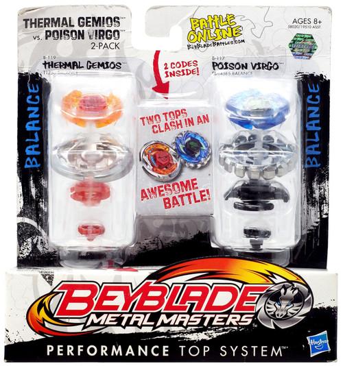 Beyblade Metal Masters Thermal Gemios vs. Poison Virgo 2-Pack B119