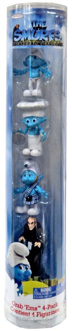 The Smurfs Movie Grab 'Ems Clumsy, Chef, Gutsy & Gargamel Exclusive Mini Figure 4-Pack