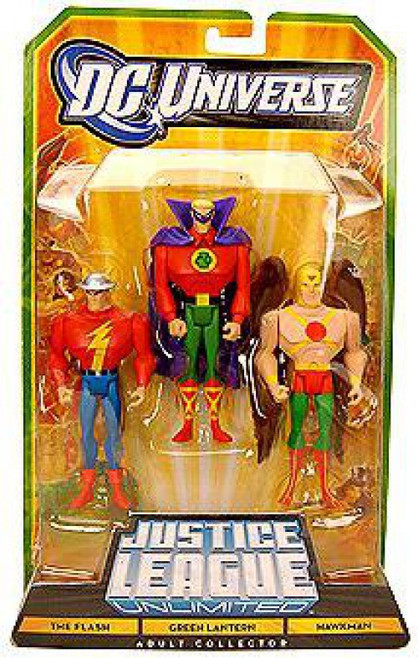 DC Universe Justice League Unlimited The Flash, Green Lantern & Hawkman Exclusive Action Figures