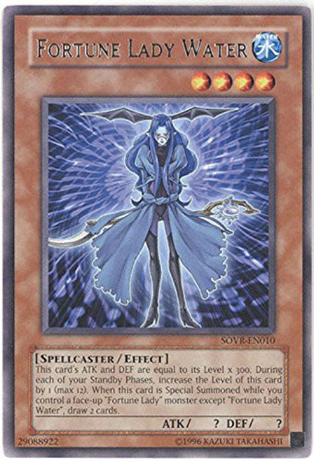 YuGiOh Stardust Overdrive Rare Fortune Lady Water SOVR-EN010