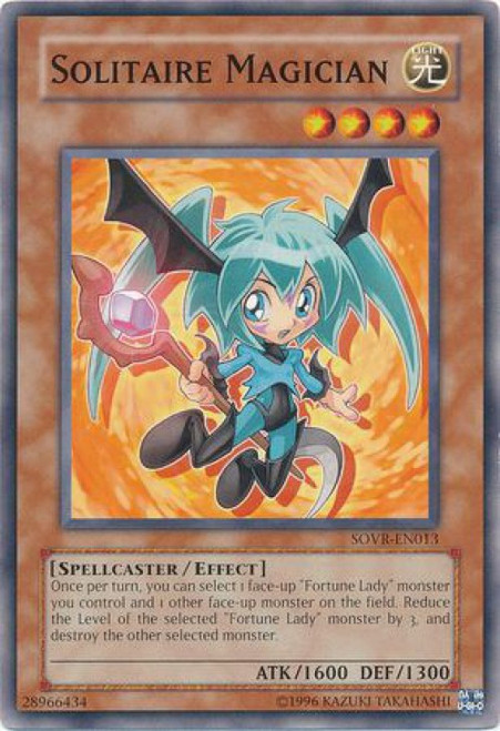 YuGiOh Stardust Overdrive Common Solitaire Magician SOVR-EN013