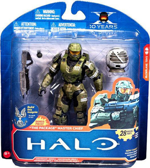 McFarlane Toys Halo 10th Anniversary Series 2 The Package Master Chief Action Figure