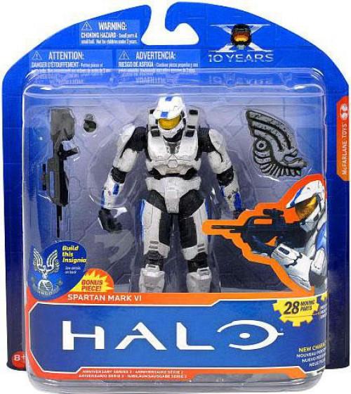 McFarlane Toys Halo 10th Anniversary Series 2 Spartan Mark VI Action Figure [White & Blue]