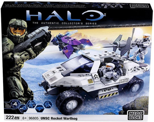Mega Bloks Halo The Authentic Collector's Series UNSC Rocket Warthog Set #96805