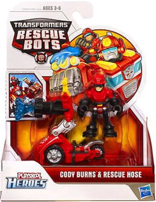 Transformers Playskool Heroes Rescue Bots Cody Burns & Rescue Hose Action Figure Set