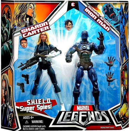Marvel Legends Stealth Armor Iron Man & Sharon Carter Action Figure 2-Pack