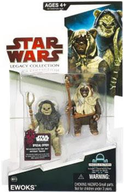 Star Wars Return of the Jedi 2009 Legacy Collection Droid Factory Ewoks Action Figure 2-Pack BD18