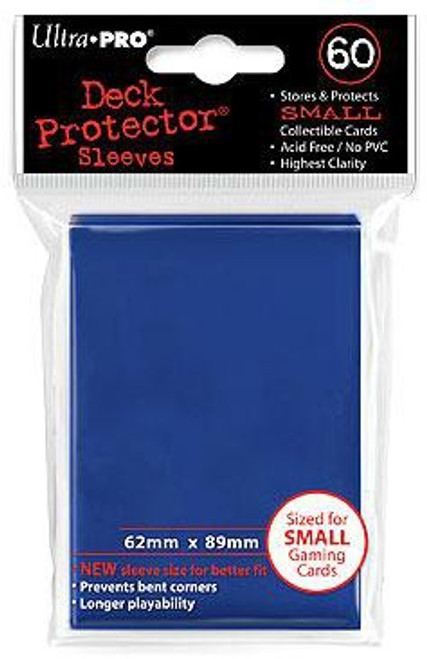 Ultra Pro Card Supplies Deck Protector Blue Small Card Sleeves [60 Count] (Pre-Order ships January)