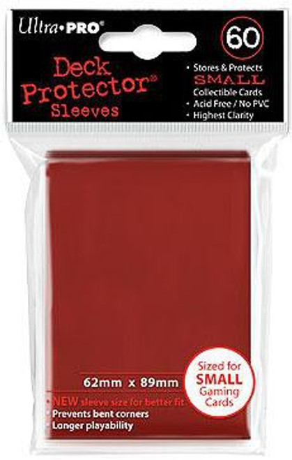 Ultra Pro Card Supplies Deck Protector Red Small Card Sleeves [60 Count]