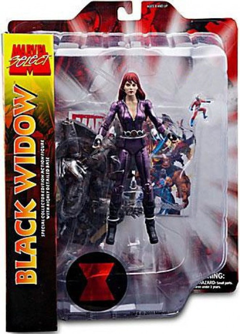 Marvel Select Black Widow Exclusive Action Figure [Purple Outfit] (Pre-Order ships May)