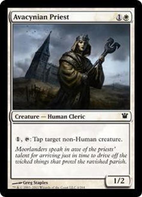 MtG Innistrad Common Avacynian Priest #4