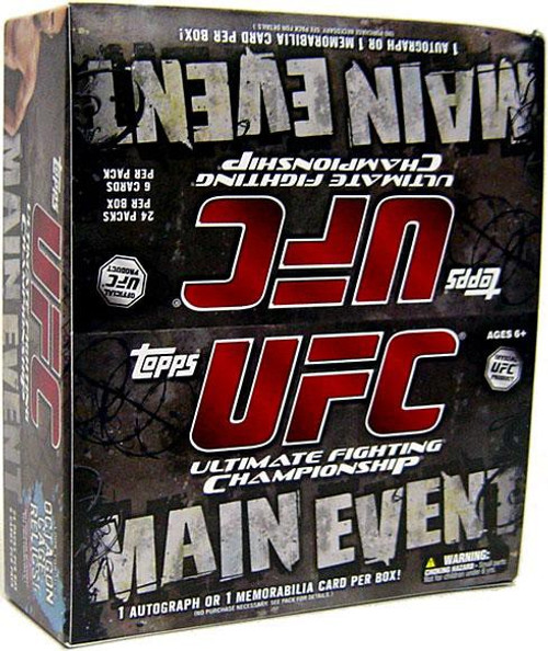 UFC Ultimate Fighting Championship 2010 Main Event Trading Card RETAIL Box [24 Packs, 1 Autograph OR Memorabilia Card!]