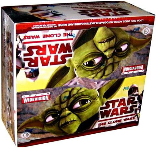 Star Wars Topps The Clone Wars Widevision Trading Card HOBBY Box [24 Packs]