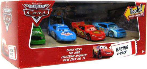 Disney / Pixar Cars The World of Cars Racing 4-Pack Chick, King, McQueen & View Zeen Exclusive Diecast Car Set