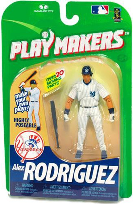 McFarlane Toys MLB New York Yankees Playmakers Series 1 Alex Rodriguez Action Figure [Batting]