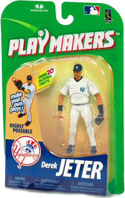 McFarlane Toys MLB New York Yankees Playmakers Series 1 Derek Jeter Action Figure [Fielding]