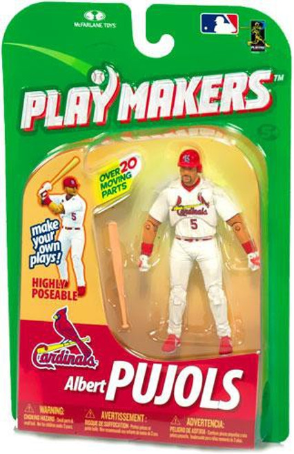 McFarlane Toys MLB St. Louis Cardinals Playmakers Series 1 Albert Pujols Action Figure [Batting]