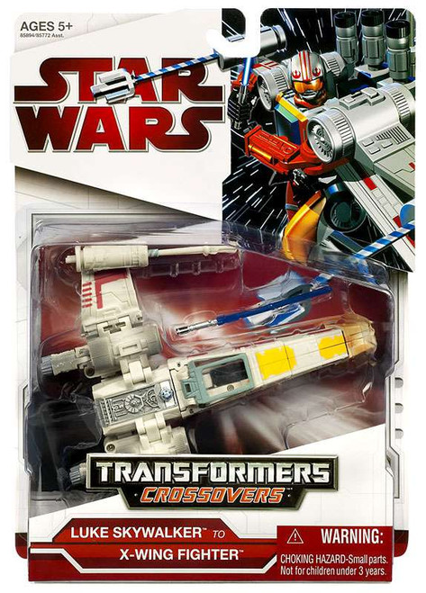Star Wars A New Hope Transformers Crossovers 2009 Luke Skywalker to X-Wing Fighter Action Figure