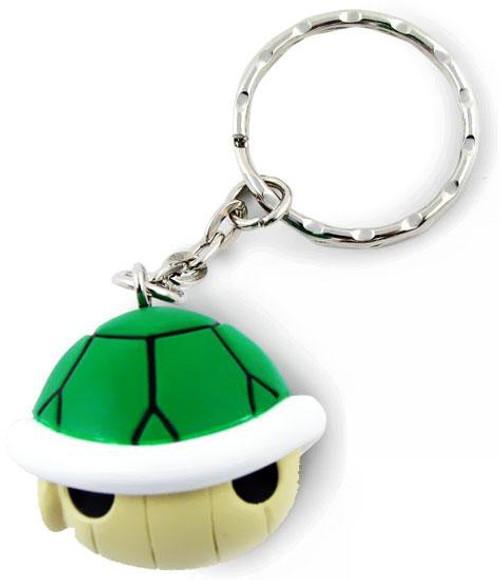 Super Mario Mario Kart Wii Volume 2 Soft PVC Green Turtle Shell Keychain